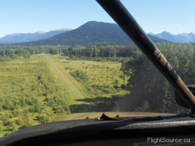 Approach at Bowron Lake Airstrip
