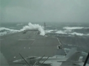 USS Kitty Hawk in Rough Seas