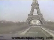 Cessna flies under the Eiffel tower